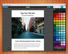 Tackk.com     Quickly publish and share your message with one simple page. No signup, just easy, beautiful design.