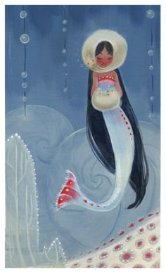 image of a winter mermaid children's illustration - Google Search
