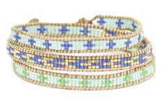 Billie Holiday Beaded Wrap Bracelet from Boho Betty USA