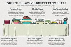 Southern Charm Tip #228: Obey the Laws of Buffet Feng Shui. Because sometimes learning to present food is just as important as learning to bake food