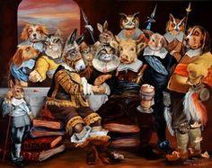 Animal society by Sylvia Karle Marquet - Beauty will save Animal Society, Tribal Women, Satyr, Vanitas, Beautiful Paintings, Les Oeuvres, Beautiful Women, Creative, Beauty
