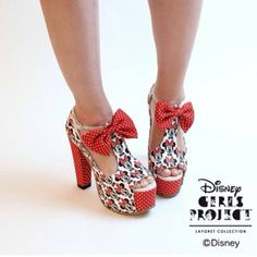 mickey mouse shoes red high heels summer sunshine
