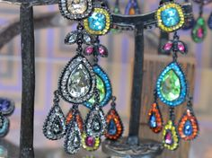 I've always been a fan of POGGI.a costume jewelry boutique on the Left Bank of Paris. The colors are bright and shiny and incredibly dif. Rock And Roll, An American In Paris, Art Deco, Paris Fashion, Costume Jewelry, My Photos, Sparkle, In This Moment, Earrings