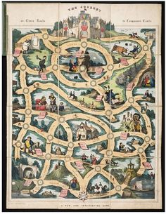 The Journey or Cross Roads to Conqueror's Castle  Object: Board game  Place of origin: London, England (published)  Date: 1837-1846 (publish...