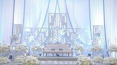 Wedding Stage Design, Wedding Stage Decorations, Wedding Mandap, Desi Wedding, Free Wedding, Gown Wedding, Baby Blue Weddings, Muslimah Wedding Dress, My Wedding Planner