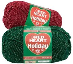 Shop Red Heart : Red Heart Holiday Yarn : White W/Silver Metallic