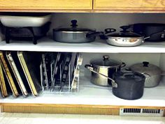 Organizing The Dreaded Pots and Pans Cabinet! | One Good Thing by Jillee