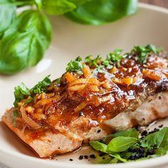 BluGlacier (@bluglacier) • Instagram photos and videos Savory Salmon Recipe, Baked Salmon Recipes, Garlic Recipes, Seafood Recipes, Salmon Marinade, Food Pack, Salmon Dishes, Orange Zest, Grilled Salmon