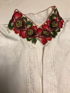 broderimønster til bunadskjorte,telemark Folk Costume, Costumes, Folk Clothing, Edwardian Dress, Norway, Hand Embroidery, Cloths, Belt, Stitch