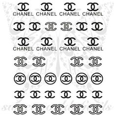 Celebrity Nail Art Black CC Nail Water Decals Water Slides