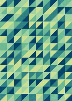 The best thing about this is possibly the random individual triangles that make it almost look like a maze, perhaps a could do the same type of design, but on a larger scale with the lines being horizontal instead of vertical.