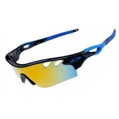 Oakley Radarlock Path Sunglasses Black White Frame Fire Iridium Lens