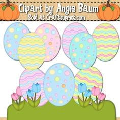 Easter Eggs Clipart