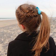 Dutch fishtail headband into pony by @yiyayellow :)