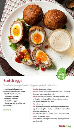 ON THE RUN: Wrap hardboiled #eggs in a breadcrumb casing for a Meat-free Monday brekkie, or enjoy as padkos for your Easter weekend road trip! #dailydish #picknpay #freshliving