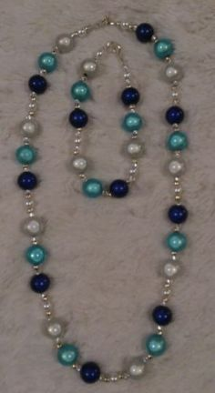 Miracle-Beads-Necklace-and-Bracelet-set-Disco-3d-Illusion-BeadHandmade