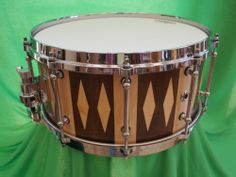 Snare Drum Stave Construction Black Walnut with Maple Accent and Maple Inlays   eBay