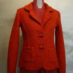 Sono felice di condividere l'ultimo arrivato nel mio negozio #etsy: Giacca arancione mélange di lana cotta #abbigliamento #donna #giacche #arancione #giaccaarancione #lanacotta #giacca #modelloclassico #puralana http://etsy.me/2mQYg0F