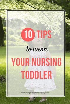 Do you have a nursing toddler who refuses to wean from breastfeeding? Learn 10 tips to wean a booby-obsessed toddler in this article. Click through to read the weaning tips or pin for later via @fiftarina