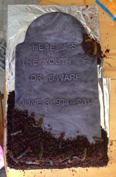 Tombstone cake!