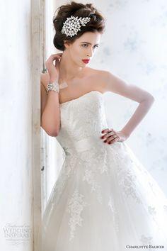 http://weddinginspirasi.com/2013/08/16/charlotte-balbier-2014-wedding-dresses-a-decade-of-style-bridal-collection/ charlotte balbier #wedding dresses 2014 libby strapless ball gown sequin bodice #ballgown #weddingdress #weddings
