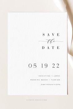 Minimalist Wedding Invitations, Simple Wedding Invitations, Wedding Stationary, Minimalist Invitation, Calligraphy Wedding Invitations, Simple Wedding Cards, Modern Wedding Stationery, Card Wedding, Wedding Book