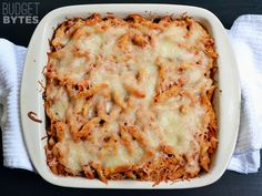 Turkey & Spinach Pasta Bake - My variation was to use chopped up chicken meatballs since that's what I had in the freezer. Nothing to write home about but tasty, quick, and filling, nevertheless.