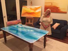 Resin Art Table