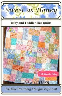 Sweet as Honey Downloadable PDF Quilt Pattern<BR>Carlene Westberg.  I MUST get this pattern!