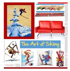 """Th Art of Skiing'"" by dianefantasy ❤ liked on Polyvore featuring interior, interiors, interior design, home, home decor, interior decorating, Nordstrom and Dot & Bo"