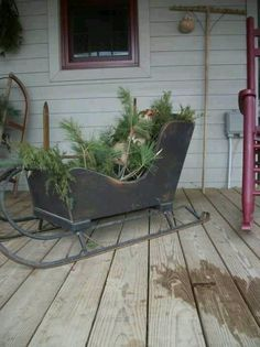Love this sleigh!!                                                                                                                                                                                 More