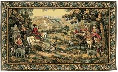 Hunting Party Chasse Courre de Detti French Wall Tapestry