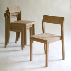 Stackable Wood Dining Chair - by Caleb James @ LumberJocks.com ~ woodworking community