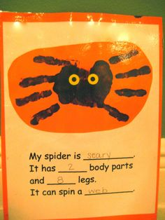 Classroom Freebies: Spiders!