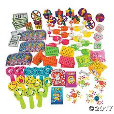 This Fun & Games Assortment is packed with fun of toys and games for everyone! This toy assortment offers a fun mix of toys for parties, carnival prizes, ...