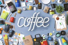 Coffee Branding & Packages Mock Up by Mockup Zone on @creativemarket