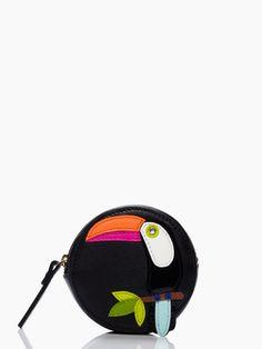 fine feather toucan coin purse
