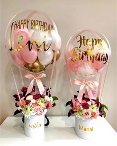 Pretty in Pink birthdayblooms for Lenita and Manal   TheseYou can find Birthday presents and more on our website.Pretty in Pink birthdaybloo. Birthday Gifts For Bestfriends, Cute Birthday Gift, Best Birthday Gifts, Birthday Presents, Birthday Balloon Decorations, Diy Wedding Decorations, Birthday Balloons, Ballon Arrangement, Flower Box Gift