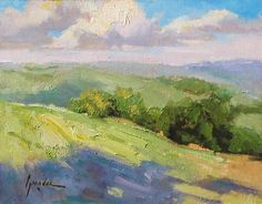 Field Sketch Plein Air Landscape Paso Robles California 11 x 14 Oil Painting NR	   100% donation to Heifer International -- SOLD