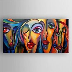 Pintada a mano Abstracto Panorámica,Clásico Tradicional Un Panel Pintura al óleo pintada a colgar For Decoración hogareña 2488799 2017 – $164.548