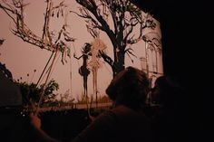 behind scenes of Stephen Mushin Shadow Puppetry