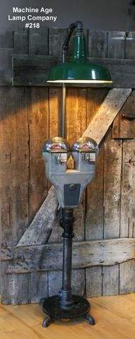 Steampunk Industrial vintage Parking Meter Floor Lamp - #218