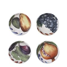 Painted fruit dipping bowls