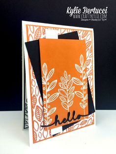 Stampin' Up! Australia: Kylie Bertucci Independent Demonstrator: Lighthearted Leaves - Holiday Catalogue Sneak Peek!