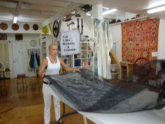 Wet felting studio