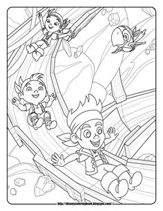 jake and the neverland pirates coloring pages