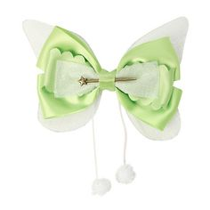 Disney Peter Pan Tinker Bell Cosplay Hair Bow Hot Topic ($6.80) ❤ liked on Polyvore featuring accessories, hair accessories, bow, hair, disney hair accessories, hair bows, disney, hair bow accessories and disney hair bows