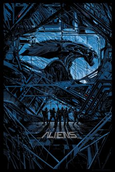 """Aliens by Kilian Eng 24"""" x 36"""" Edition of 300"""