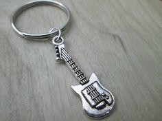 Guitar Keychain on Etsy