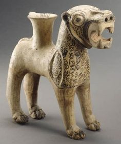 Description: Rhyton (drinking vessel) in the form of a lion, found at level II of Karum Kültepe (ancient Kanesh-Nesa) in Anatolia. Date: c....